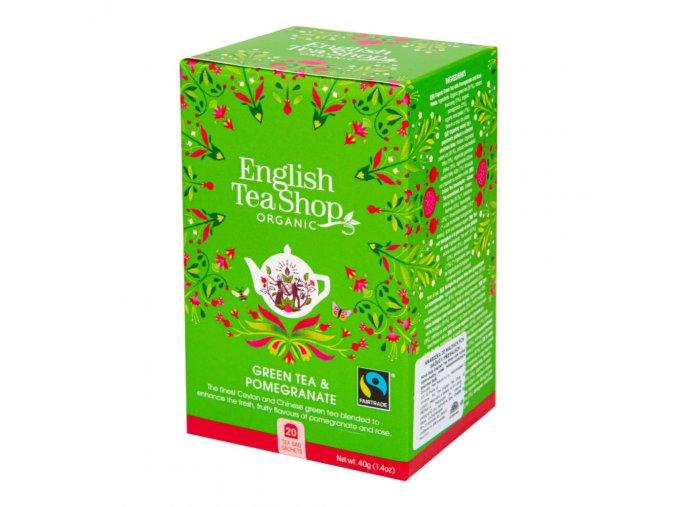 English Tea Shop Čaj Zelený s granátovým jablkem 20 sáčků BIO