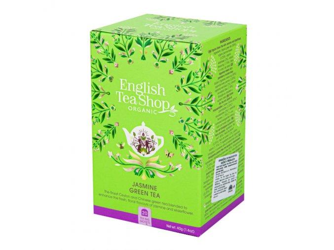 English Tea Shop Čaj Zelený s jasmínem a květem bezu BIO sáčky 20 Ks
