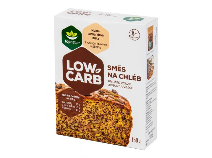 Topnatur Směs na chléb LOW CARB bezlepková 150 g