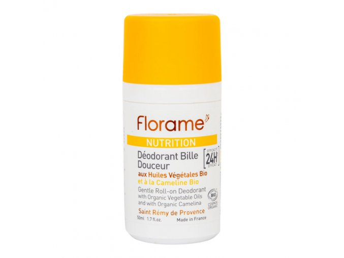Florame Deodorant přírodní kuličkový 24h efekt Nutrition BIO 50 ml