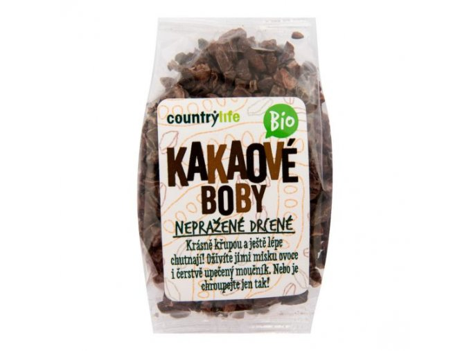 Country Life Kakaové boby nepražené drcené BIO 100 g
