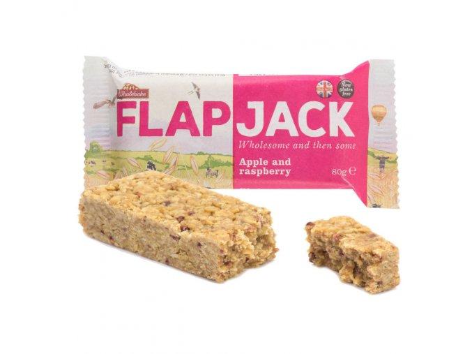 Flapjack ovesný malina jablečná šťáva bezlepkový 80 g WHOLEBAKE