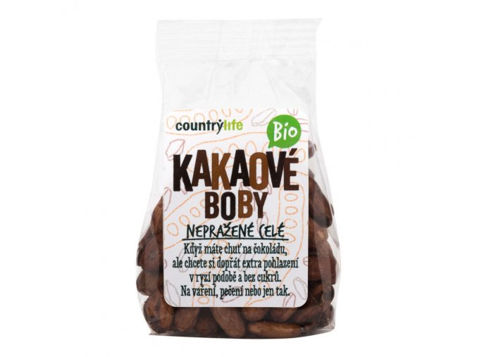 Kakaové boby nepražené celé 100 g BIO COUNTRY LIFE