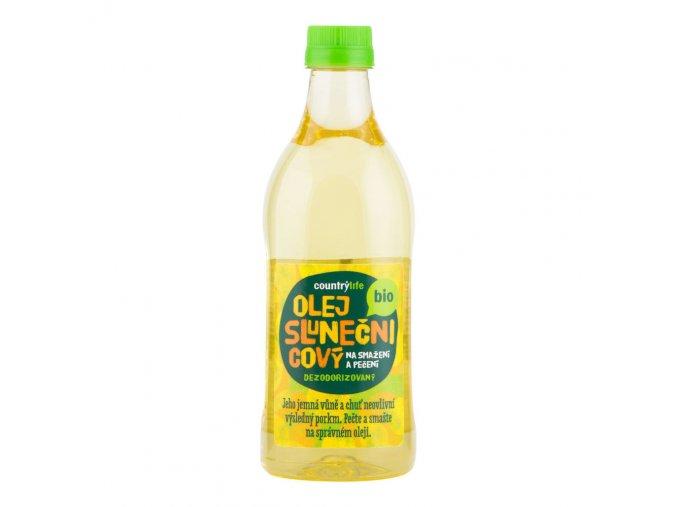 Olej slunečnicový dezodorizovaný na smažení a pečení 1 l BIO COUNTRY LIFE