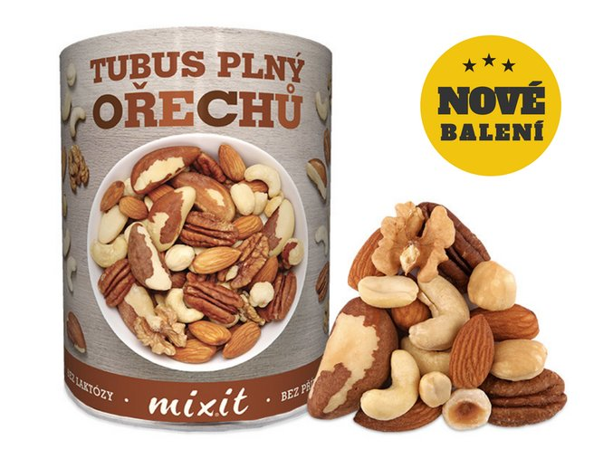 tubus plný ořechů nové balení