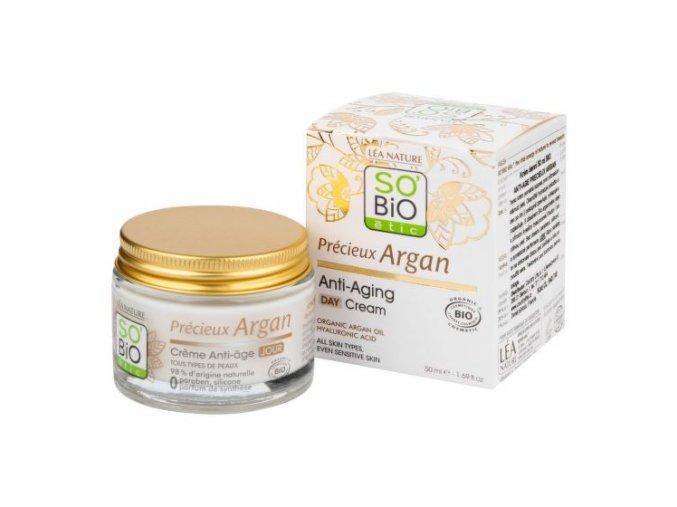 SO´BIO étic Krém denní 50 ml BIO Anti-age Precieux Argan