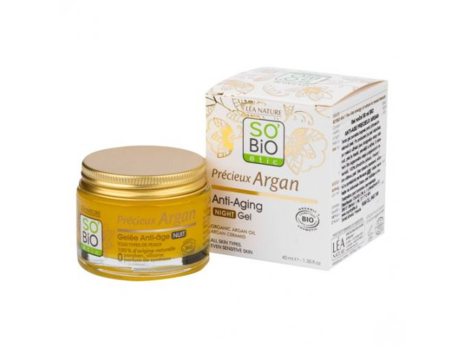 SO´BIO étic Gel noční 50 ml BIO Anti-age Precieux Argan