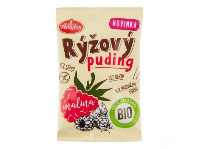 AMYLON Pudink rýžový malinový bezlepkový BIO 40 g