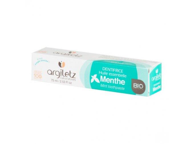 Argiletz Zubní pasta s bílým jílem máta BIO 75 ml