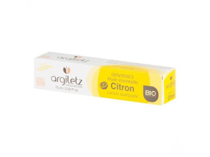 Argiletz Zubní pasta s bílým a žlutým jílem citron BIO 75 ml