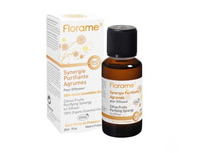 Florame Vzduch čistící synergická směs citrusy s eukalyptem BIO 30 ml