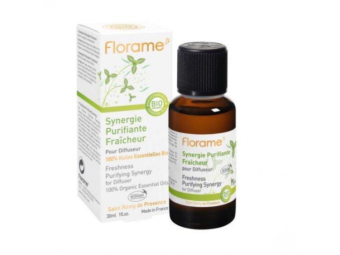 Florame Vzduch čistíicí synergická směs osvěžující s eukalyptem 30 ml BIO