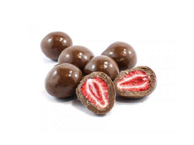 Zdravoslav Mrazem sušené jahody v mléčné čokoládě 250 g