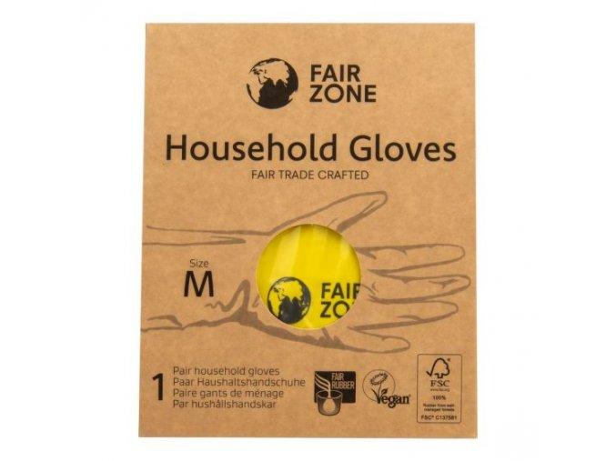 Fair Squared Rukavice pro domácnost z přírodního latexu M FAIR ZONE
