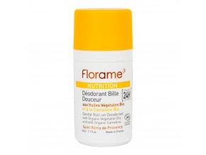 Florame Deodorant přírodní kuličkový 24h efekt Nutrition 50 ml BIO