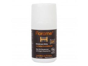 Florame Deodorant přírodní pánský 24h roll-on HOMME BIO 50 ml