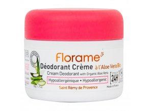 Florame Deodorant krémový 24h hypoalergenní s aloe vera BIO 50 g