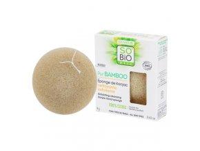 SO´BIO étic Houbička konjac s bambusem – exfoliační čištění pleti – řada Pur BAMBOO 18 g