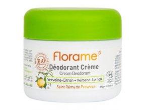 Florame Deodorant krémový 24h citronová verbena BIO 50 g
