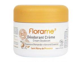 Florame Deodorant krémový 24h mandlová esence BIO 50 g