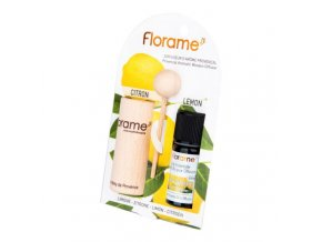 Florame Difuzér provensálský dřevěný + éterický olej Citron BIO 10 ml