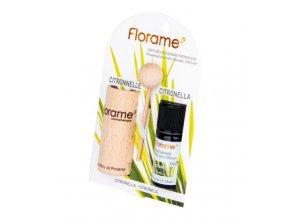 Florame Difuzér provensálský dřevěný + éterický olej Citronela BIO 10 ml