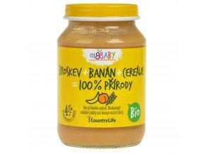 Příkrm broskev, banán, cereálie 190 g BIO COUNTRY LIFE
