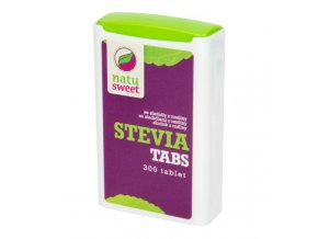 Natusweet Sladidlo ze stévie 300 tablet v dávkovači 18 g