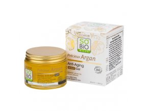 SO´BIO étic Gel noční 50 ml BIO Anti-age Precieux Argan