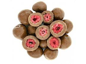 Zdravoslav Mrazem sušené maliny v mléčné čokoládě 250 g
