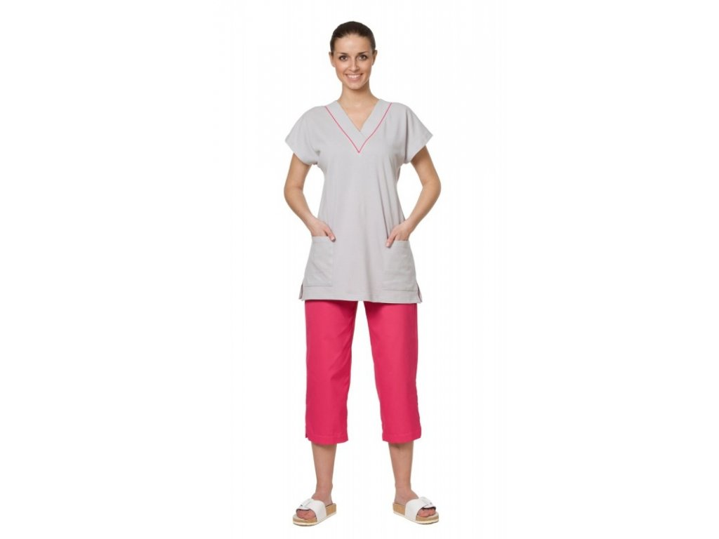 3/4 kalhoty D2-3 fresh (Dám. OB Na zakázku - 60 (136 cm), Barva Lyocell fresh - Zelená)