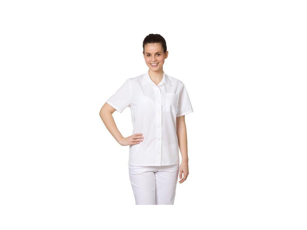 D1-4 dámská lékařská košile (Barva Plátno - Bílá, Dám. OH Na zakázku - 54 (116 cm))