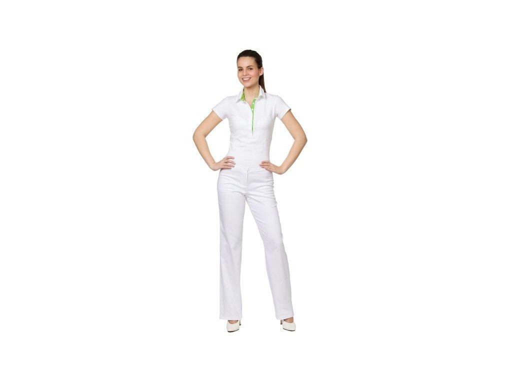 Kalhoty PAVLA s elastanem (Dám. OB Na zakázku - 56 (128 cm), Barva Kepr odlehčený s elastanem - Bílá)