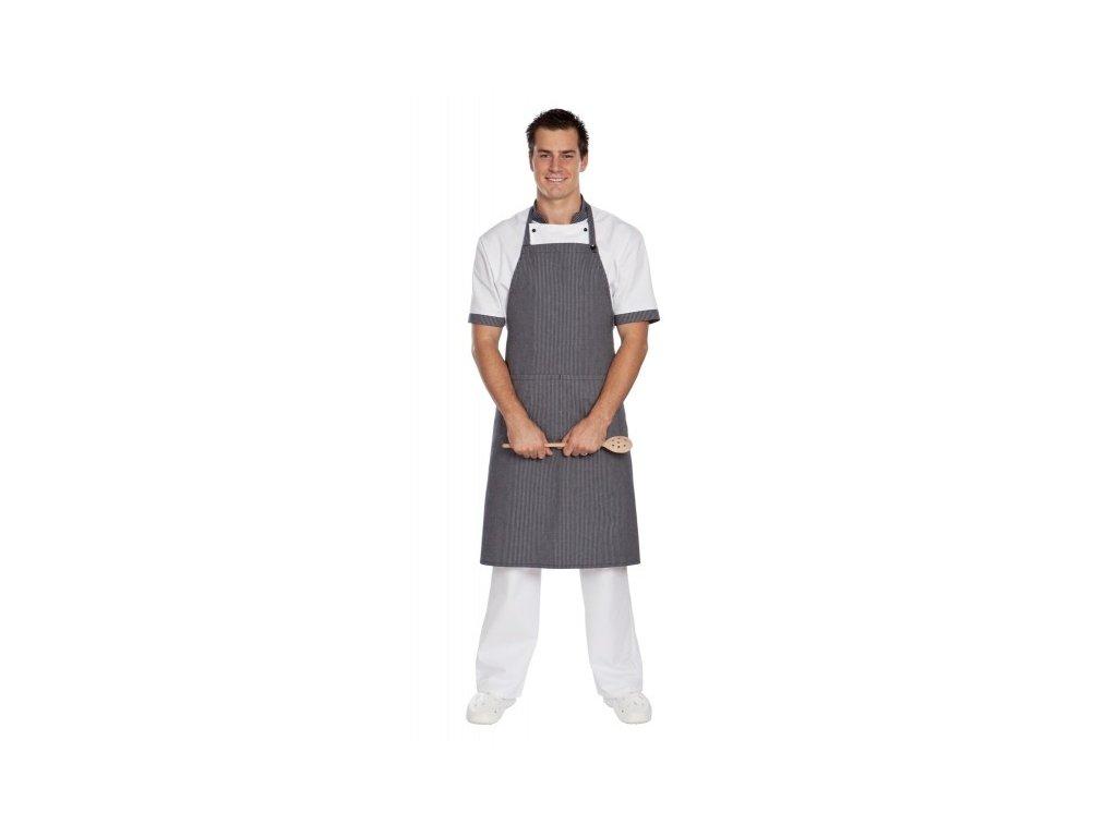Kuchařská zástěra s laclem vcelku (Barva Lyocell fresh - Růžová)