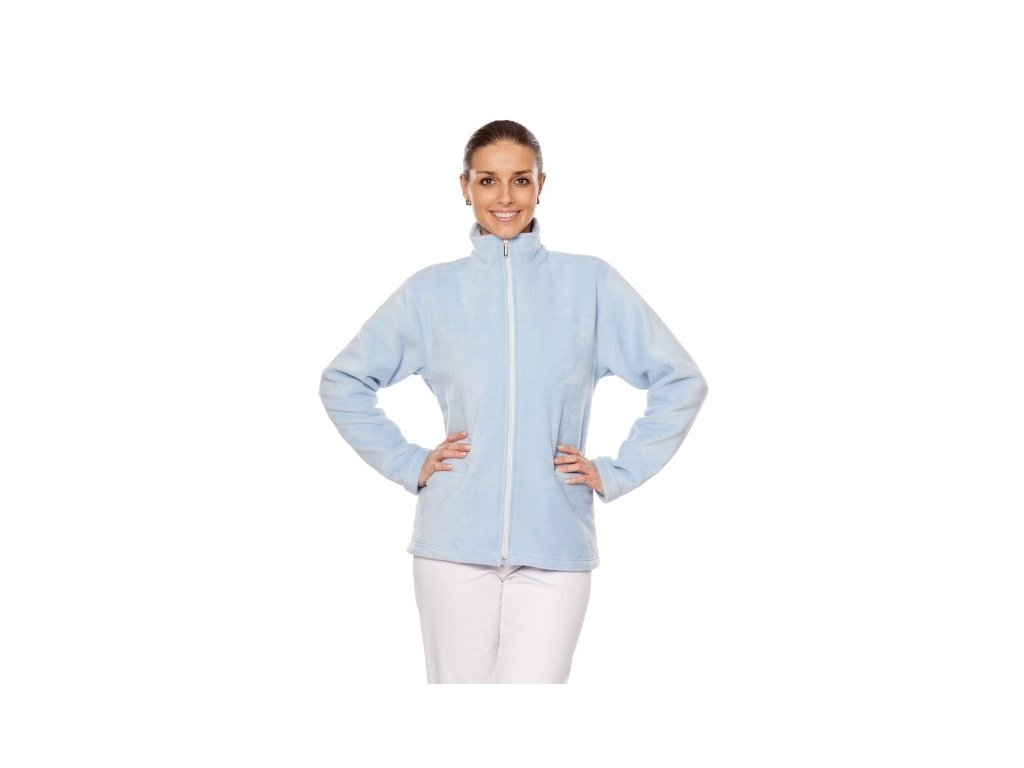 Mikina LINDA (Dám. OH XL (102-110 cm), Barva Fleece - Mentolová (na zakázku))