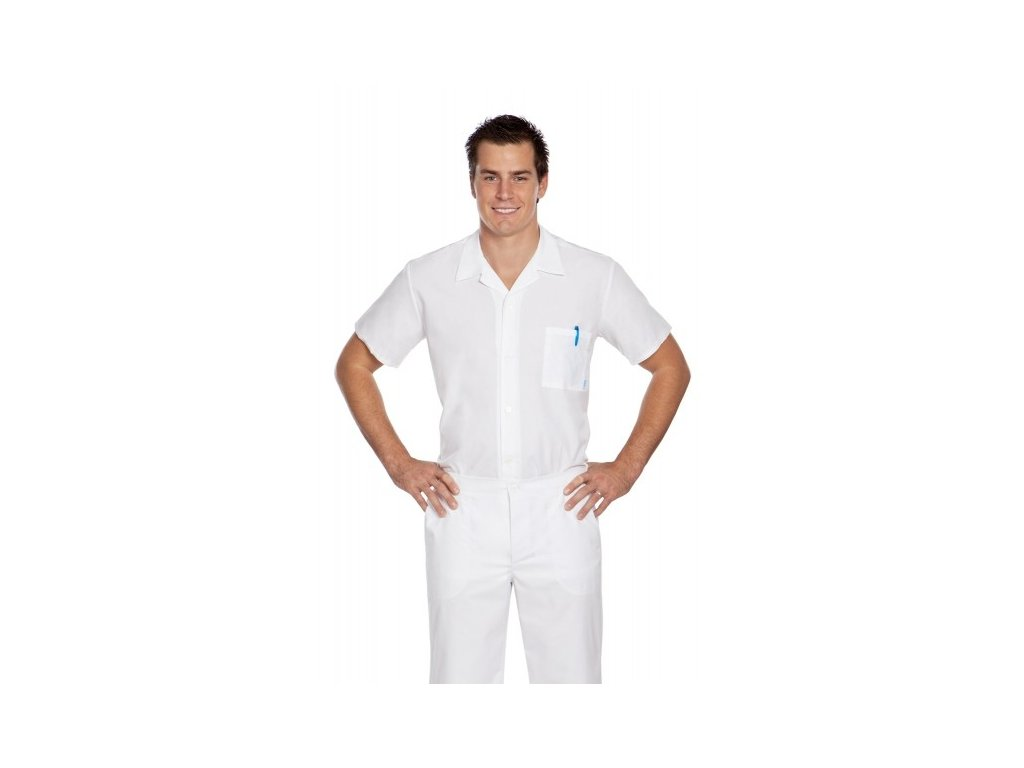 P1-3 pánská lékařská košile (Barva Plátno - Bílá, Pán. OH Na zakázku - 64 (126-130 cm))