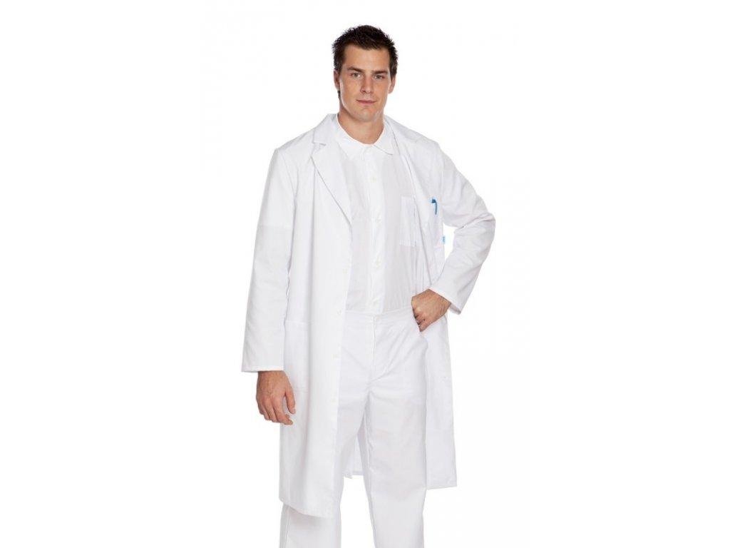 P4-2 pánský doktorský plášť (Barva Kepr odlehčený - Mentolová, Pán. OH Na zakázku - 46 (90-94 cm))