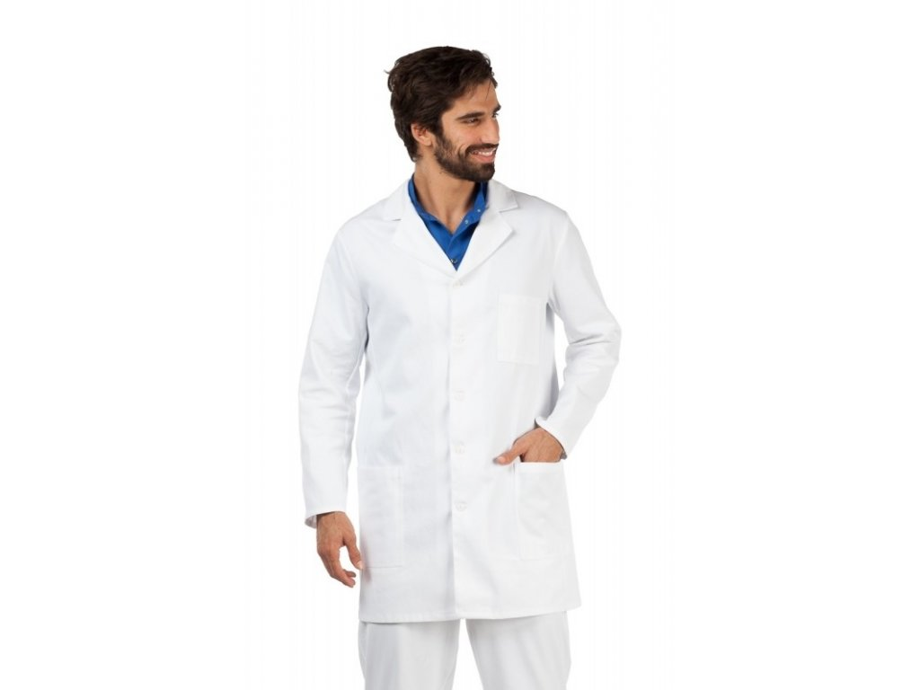 Plášť ERIK (Barva Lyocell - Bílá, Pán. OH Na zakázku - 64 (126-130 cm))