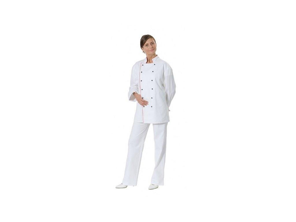 Rondon dvouřadý dámský (Dám. OH Na zakázku - 60 (128 cm), Barva Kepr - Bílá, Barva doplňku Kepr odlehčený - Bílá)