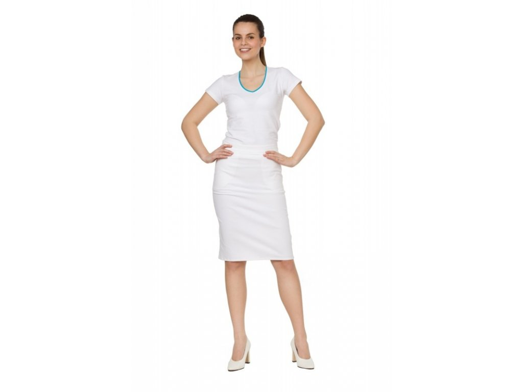 Sukně KARLA s elastanem (Dám. OB 50 (116 cm), Barva Kepr odlehčený s elastanem - Bílá)