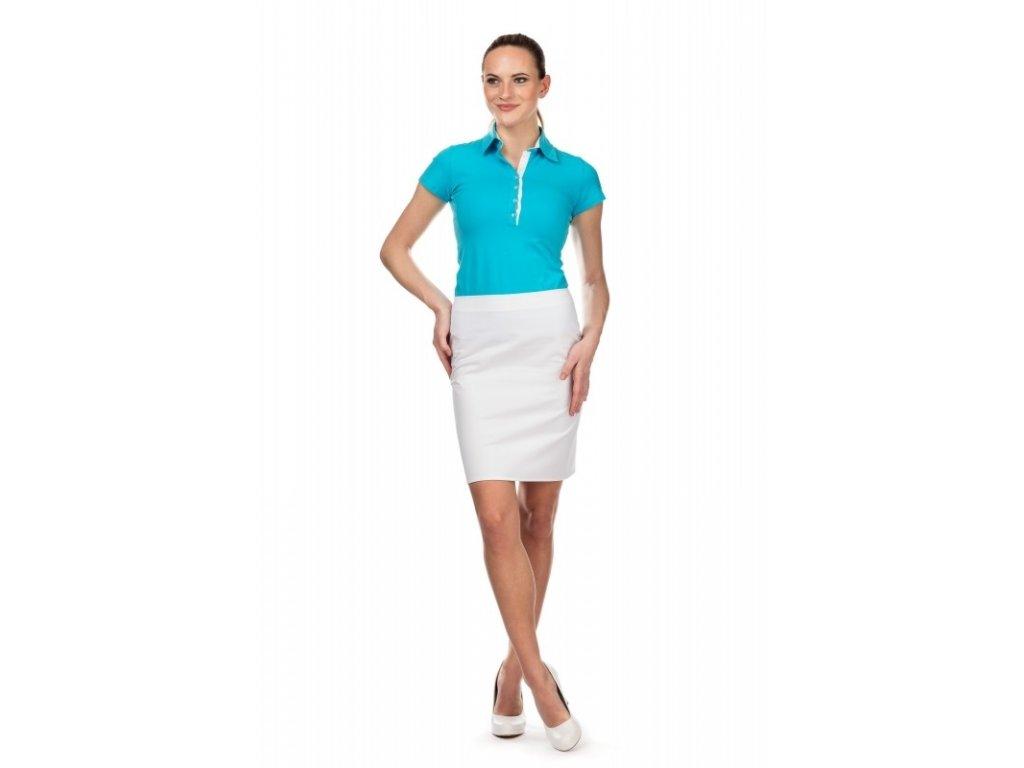 Sukně LADA s elastanem (Dám. OB Na zakázku - 50 (116 cm), Barva Kepr odlehčený s elastanem - Bílá)
