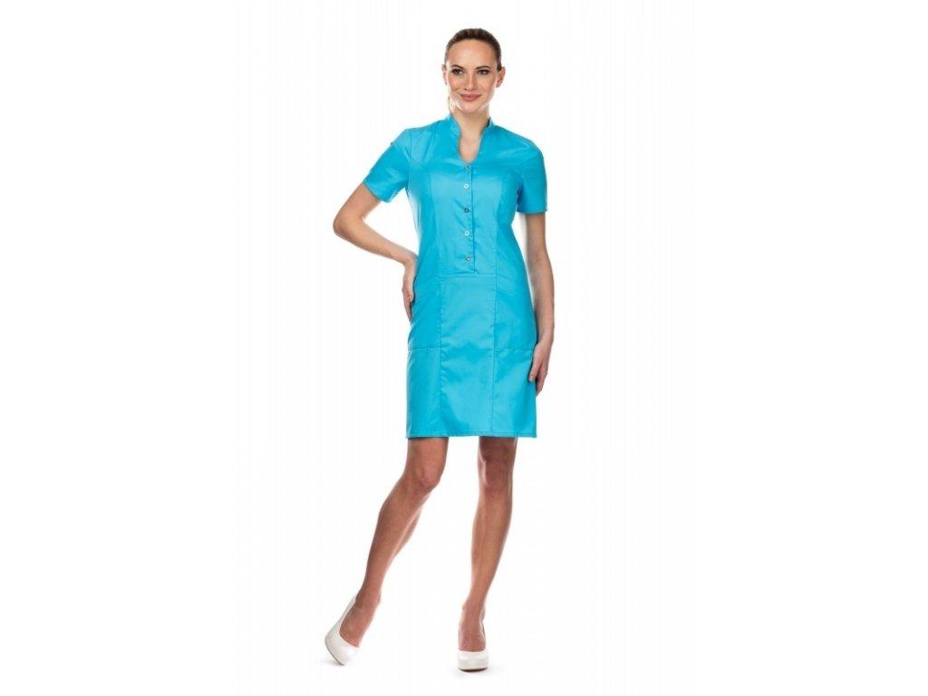 Šaty MARCELA (Barva Lyocell fresh - Tyrkysová, Dám. OH Na zakázku - 52 (112 cm))