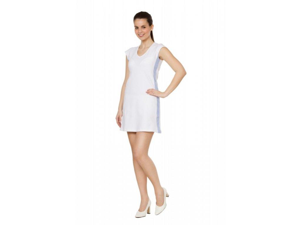 Šaty VĚRA (Dám. OH XL (102-110 cm), Barva Úplet - Bílá, Barva doplňku Úplet - Bílá)
