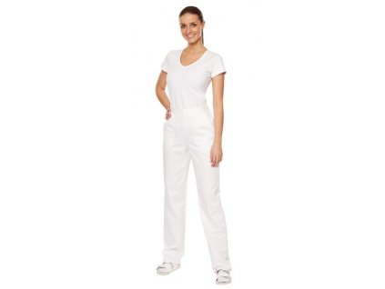Dámské kalhoty D2-3 - 176 cm (Dám. OB Na zakázku - 60 (136 cm), Barva Kepr - Bílá)