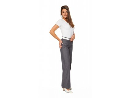 Kalhoty MONIKA s elastanem (Dám. OB Na zakázku - 56 (128 cm), Barva Stretch - Riflová)