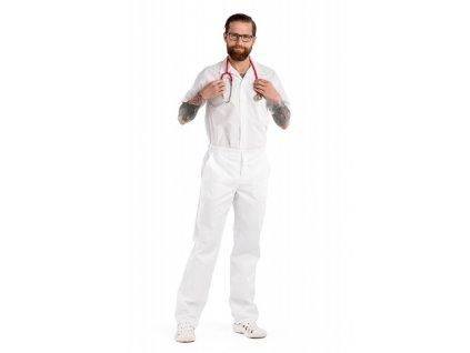 Pánské kalhoty P5-3 (Pán. OP Na zakázku - 64 (128-132 cm), Barva Kepr odlehčený - Mentolová)
