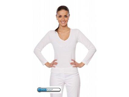 Triko ELIŠKA Coolmax® FX dlouhý rukáv (Dám. OH XL (102-110 cm), Barva Coolmax fresh - Modrý)