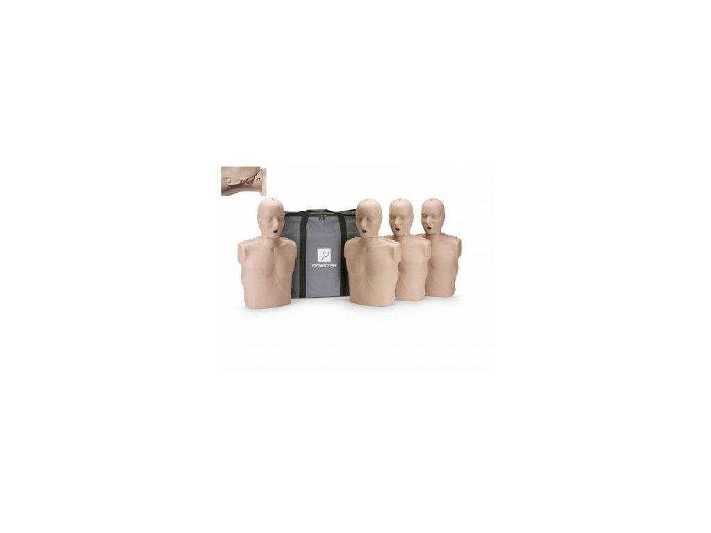Prestan KPR-AED figurína dospělého člověka s pohyblivou čelistí a KPR monitorem - balení 4
