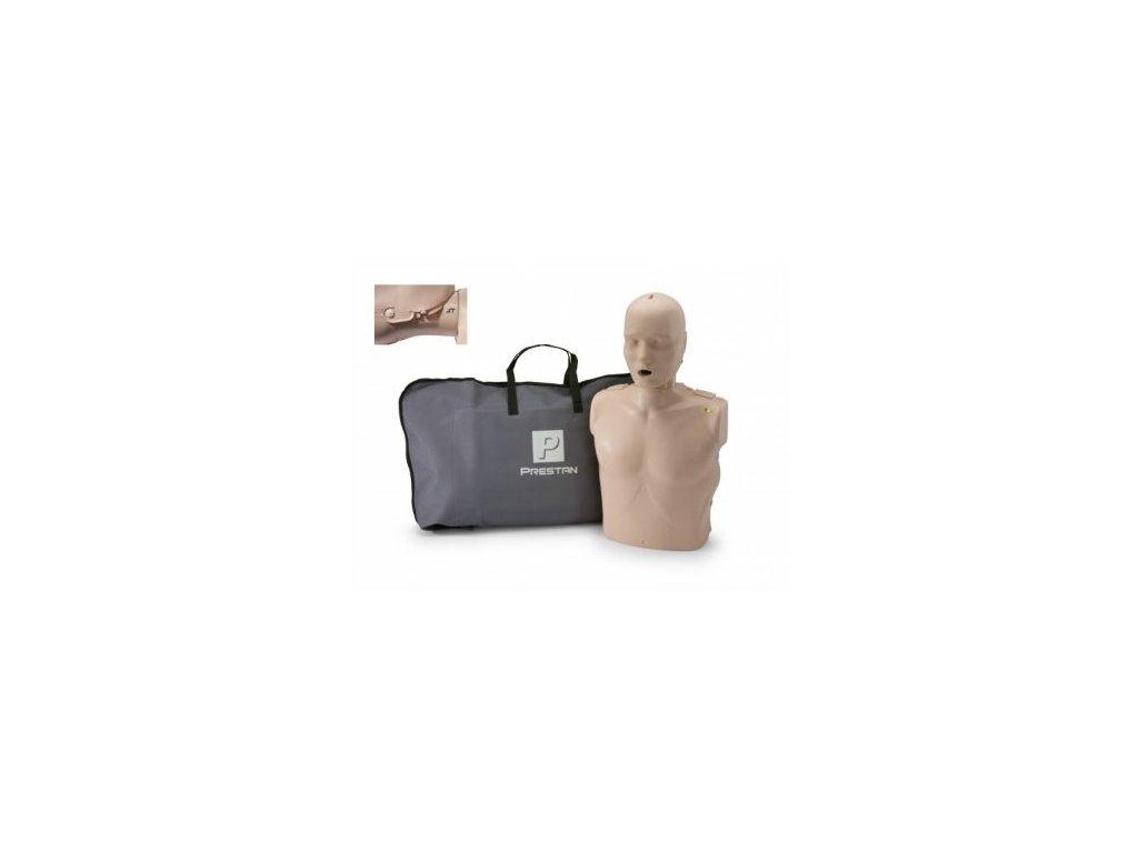 Prestan KPR-AED figurína dospělého člověka s pohyblivou čelistí a KPR monitorem