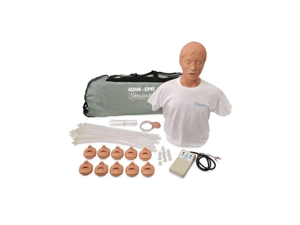 Resuscitační figurína Adam s elektronikou a přenosným vakem